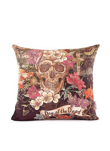 Firuze Home&Bath 2'li Kırlent Skull Renkli